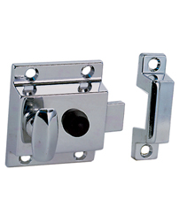 Latch with Sliding Lock Button