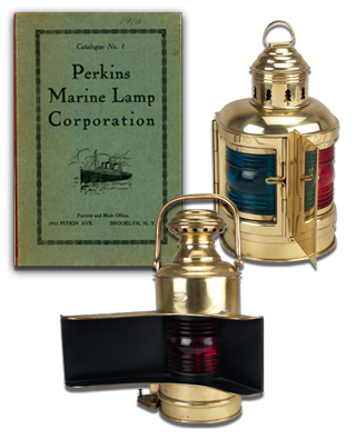 Perkins Marine Lamp Corporation Catalog No. 001 and early lights